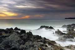 Pererenan Beach (tropicaLiving - Jessy Eykendorp) Tags: longexposure light sunset sea sky bali seascape beach nature water indonesia landscape rocks shoreline explore westcoast frontpage canggu efs1022mmf3545usm outdoorphotography canoneos50d tropicaliving surfingspot pererenan hitechfilters singhrayvarind pererenanbeach rawproccessedwithdigitalphotopro tiffproccessedwithadobephotoshopcs3