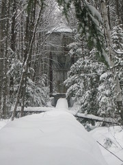 Old surge tank and penstock in the winter (Quevillon) Tags: park snow qubec laurentides surgetank penstock saintjrme parcrgionaldelariviredunord wilsonhydroelectricdam