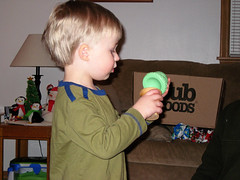 Ice Cream and Cheeks!! :) (LilMissBossy) Tags: christmas cuties 2009