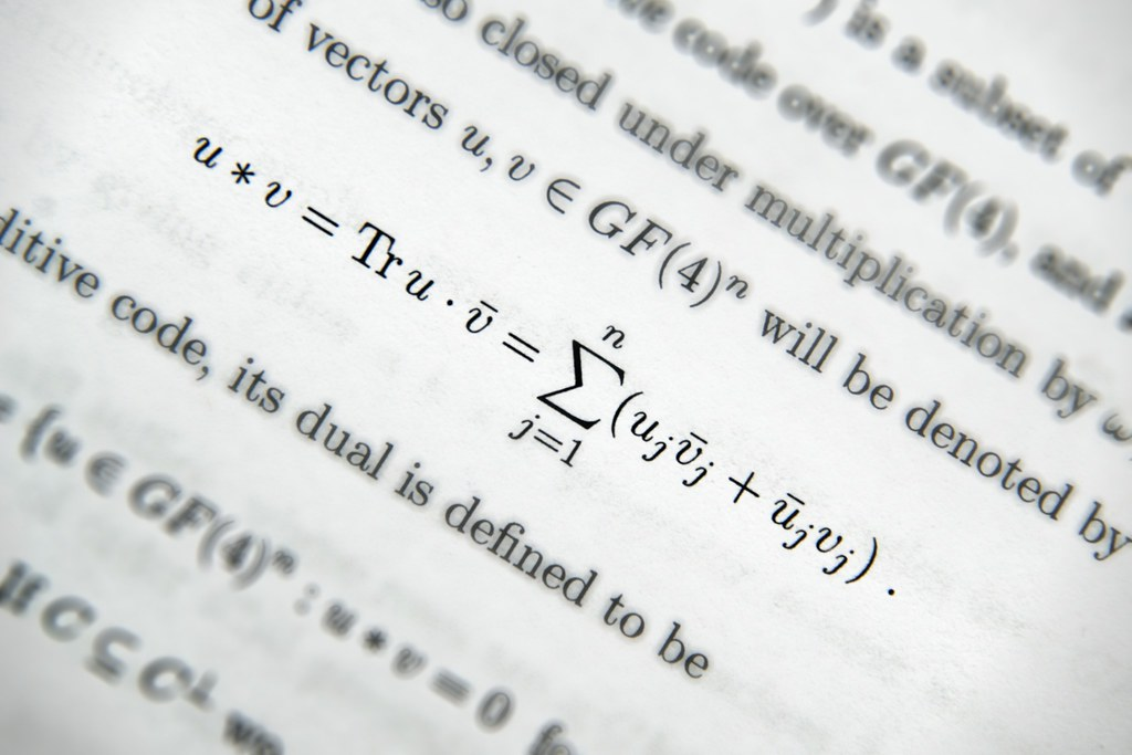 A macro of a mathematical equation on a page.