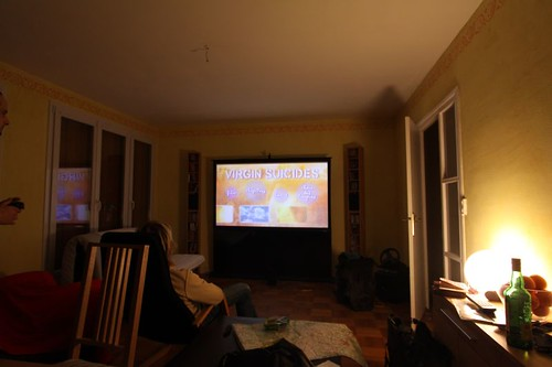 Creature comforts. Home cinema at Antoine's place...