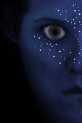 Day 1073 (evaxebra) Tags: blue inspiration film face movie poster eva character avatar inspired sparkle 365 ewa xebra 365days inspiredbythefilm evaxebra