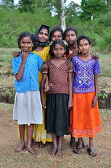 girls (Reuver) Tags: girls portrait india rural children farmers group colourfull