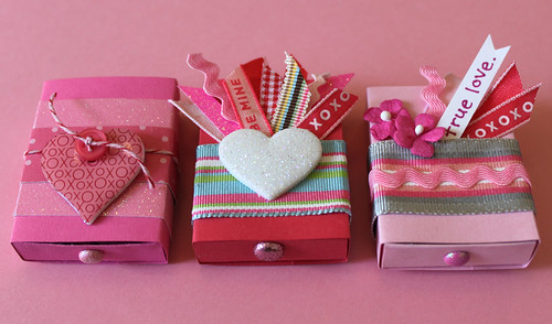 three matchbox valentines in a row