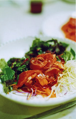 Raw trout (annamatic3000) Tags: food sashimi korea hoe pentaxk1000 trout koreanfood jaecheon jecheon