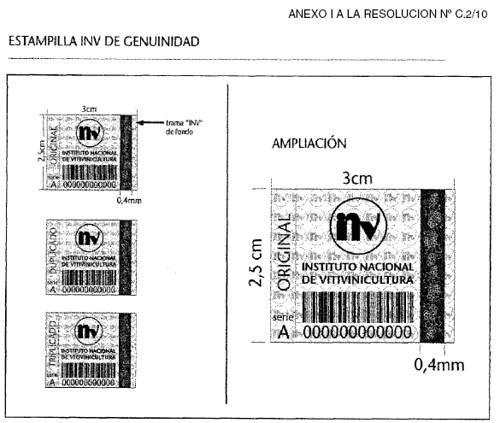 INV: Establece a partir de la Vendimia 2010 el uso obligatorio de la Oblea de Seguridad