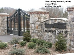 """Dusty Gray Manor Stone Entry Gate w Columns • <a style=""""font-size:0.8em;"""" href=""""http://www.flickr.com/photos/40903979@N06/4287858977/"""" target=""""_blank"""">View on Flickr</a>"""