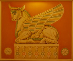 Interior Decoration - Golden Tulip Hotel - Yerevan (jrozwado) Tags: hotel asia armenia yerevan urartian wingedbull goldentulip