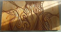 Gibson wood carving (~ Blu ~) Tags: art blu sfu burnaby guessed guesswherevancouver pointjjdorsey57