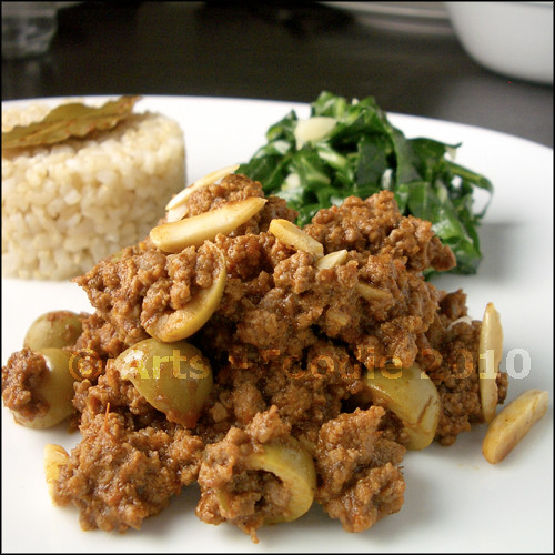 Picadillo plate close-up