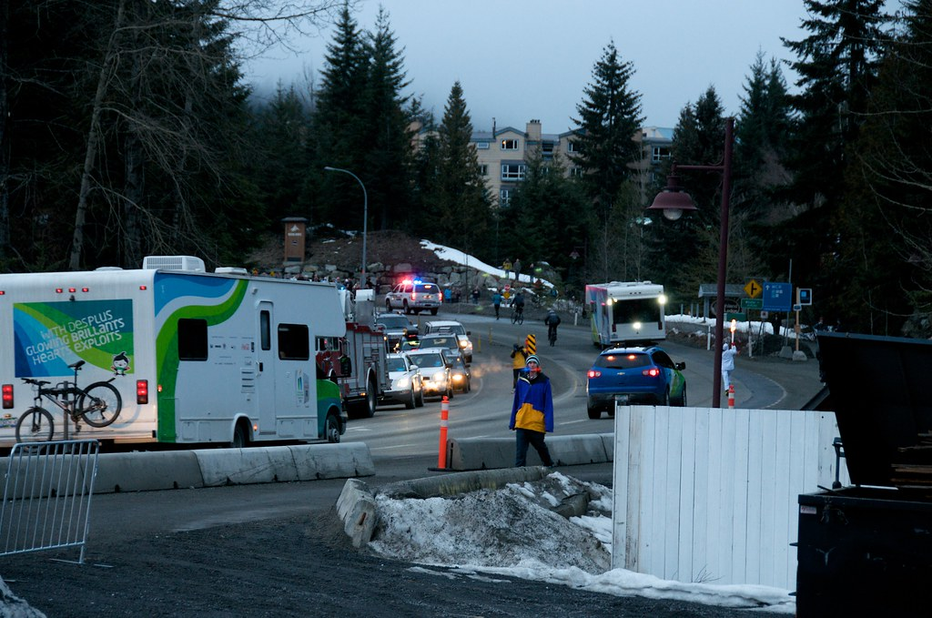 The Torch Relay Moves Pass Creekside