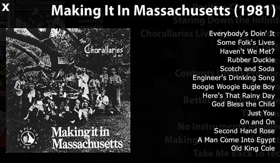 Making It In Massachusetts - Chorallaries of MIT