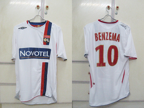 Olympique Lyon 2007/2008 Home S/S (BENZEMA)