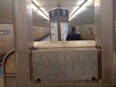 (theres no way home) Tags: chicago station graffiti cta blueline belmont gang
