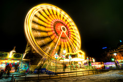 Big Wheel (Shoeven) Tags: lighting wheel night germany lights big wideangle ferris 11 tokina 11mm mannheim hdr 2010 1116mm