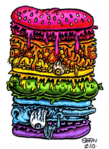 Mega Burger Rainbow