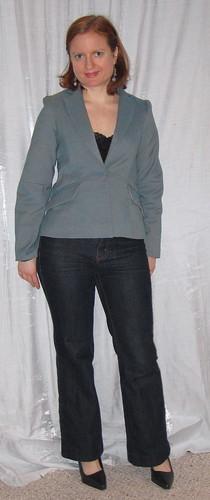 teal sewing tuxedo jacket burda bwof