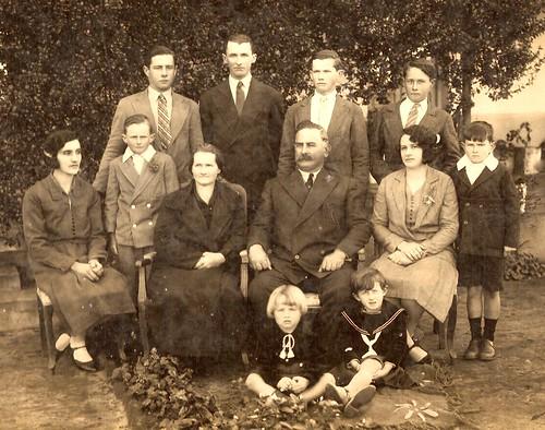 Enrique Rivoira - Ana Davies e hijos.