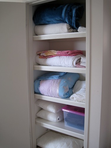 Linen cupboard after