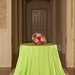 Apple green bengaline tablecloth