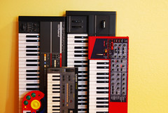 various synthesizers (Section 45) Tags: 1 casio 106 101 roland cz clava lead nord juno esq ensoniq