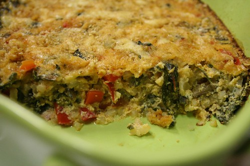 Swiss Chard and Red Pepper Gratin