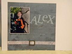 6x6 Scrapbook Page - Alex