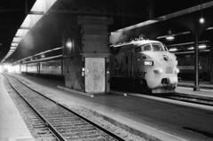 Scan11164ccx (citatus) Tags: northlander toronto canada unionstation bw 1980 minolta srt 102 1982 locomotive onr ontario northland railway