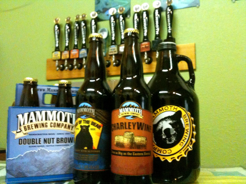 My loot from Mammoth Brewing Co.
