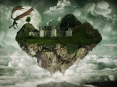 wallpaper - The ISLAND (balt-arts) Tags: wallpaper moon castle beautiful clouds photoshop island dragon air avatar floating best luna gravity fantasy cielo fantasia lovely pandora aire isla castillo baltasar flotante vischi