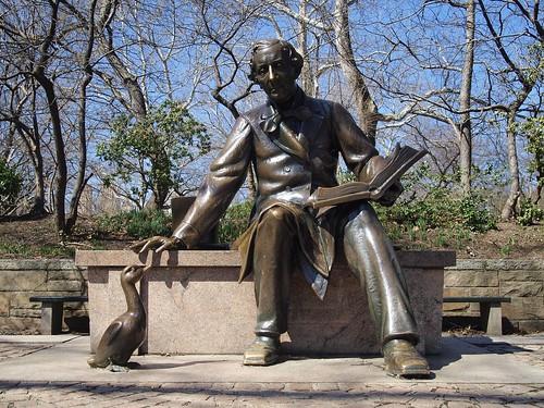 Hans Christian Andersen sculpture