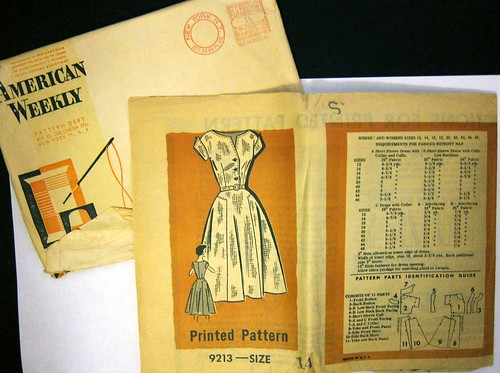 Vintage Mail Order Printed Pattern 9213 Dress