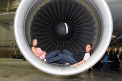 Paula and Cassy (rickpawl) Tags: jets maintenance planes airbus a330 deltaairlines