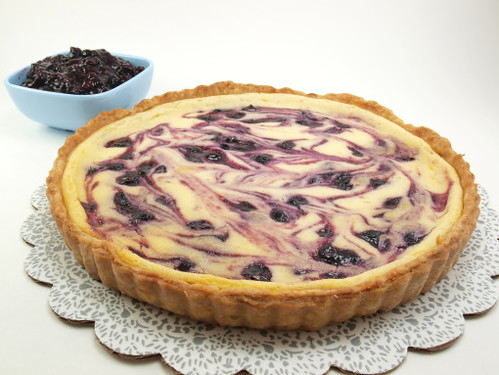 Lime and Blueberry Fromage Blanc Tart