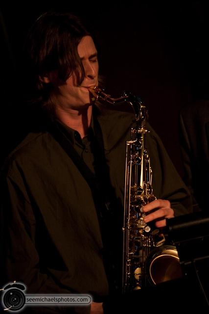 Paul Seaforth's Mo Sax at Dizzy's 41710 © Michael Klayman-026