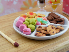 Fun Platter (Shay Aaron) Tags: birthday party food house scale kitchen cake french miniature rainbow colorful doll cookie heart handmade fake mini celebration biscuit reception tiny icecream almonds faux buffet jam 12th 112 jellybeans gummy dollhouse petit macaroons twelfth macarons chocolatechipscookie sweetandsour       petitbeurre         butterfilled