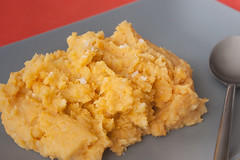 Sweet Potato Mash with Fresh Garlic Oil