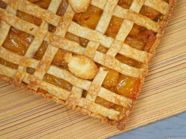 Pineapple-Vanilla Bean Tart Closeup