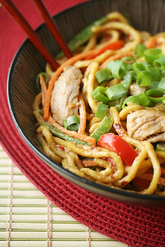 Spicy Peanut Noodles with Pork