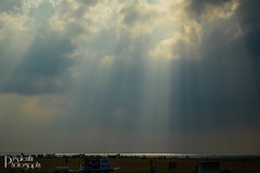 The morning rays - Marina Beach (Pugalenthi Iniabarathi) Tags: city morning blue sky beach statue clouds marina fan air citylife rays chennai d3200 nammachennai pugalenthi mycitychennai mychennai ithunammachennai