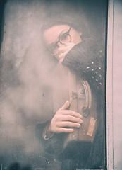 A Novel called Life (valerio magini ph) Tags: valeriomaginiphotographer portrait train window glasses hands glass metal sad melancholy
