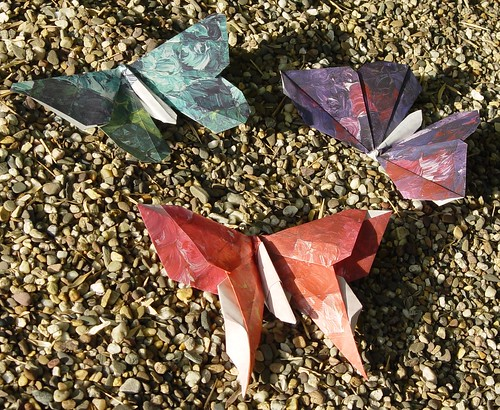 Origami Schmetterlinge (Tagfalter) Tags: butterfly origami
