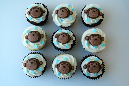 Cupcakes for Monkey Themed Baby Shower - a photo on Flickriver