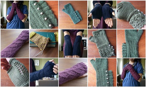 Fingerless Mitts Mosaic