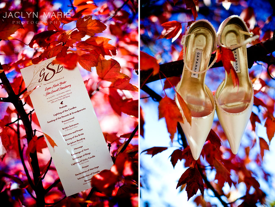 wedding shoes and program idea photo