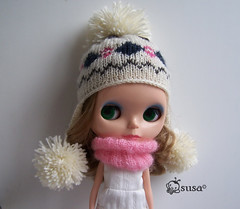 flap pompom hat