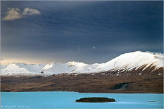 Lake Tekapo (Daniel Murray (southnz)) Tags: blue newzealand sky cloud mountain lake snow ski water landscape island scenery hill nz round area southisland tekapo norwest rockflour glacierfed southnz motuariki