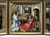 The Campin Room:  Triptych with the Annunciation, known as the Merode Altarpiece (peterjr1961) Tags: nyc newyorkcity newyork art museum metropolitanmuseumofart