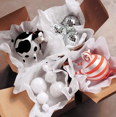 cb2 cow ornament