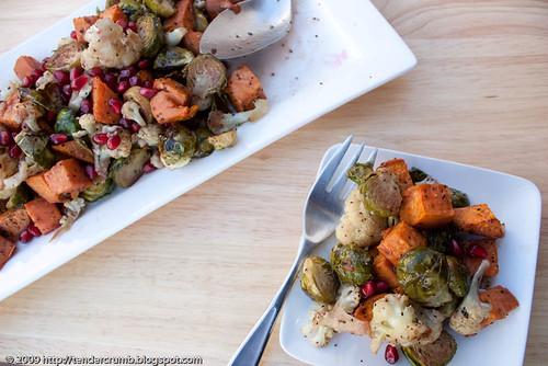 Roasted Vegetables with Pomegranate Vinaigrette